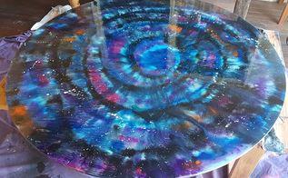 unicorn spit galaxy table on glass