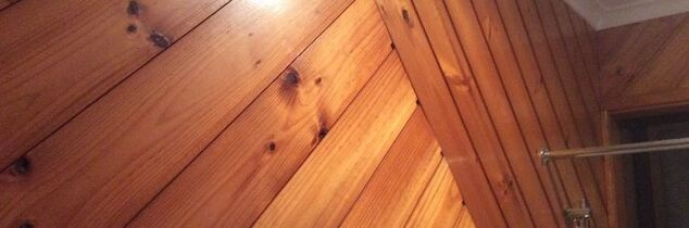 q my bathroom is varnished pine boards how can i paint over them