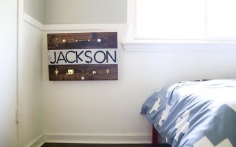 diy pallet wood wall hooks
