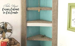 corner cabinet to cat condo