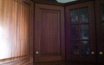q hi all did anyone try to white wash paint a dark brown wooden kitch