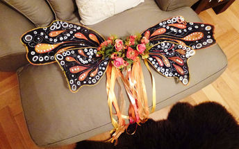 easy no sew butterfly family costume