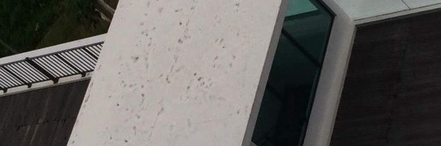 q sinking spots on rooftop