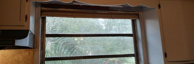 q how can i jazz up my otherwise bland window that has a wooden cornice