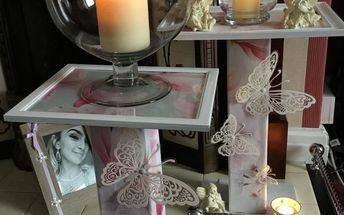 d i y lamp or candle table