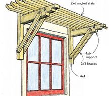 window trellis, diy, windows, woodworking projects