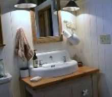my repurposed bathroom is my favorite project thus far, bathroom ideas, electrical, garages, home decor, reclaimed and repurposed was the design format for this bathroom