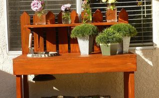 potting bench makeover and organization, gardening, painted furniture, After