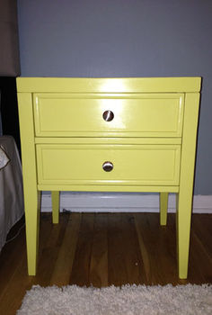 chartreuse is a tricky color, painted furniture