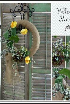 spring wreath, home decor, wreaths