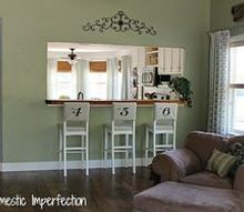 domestic imperfection home tour, home decor, Living room looking onto the kitchen dining room