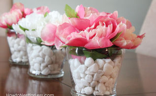 dollar store flower centerpieces, crafts, flowers, home decor, Change the colors of the flowers for any season or occasion