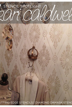 stencil spotlight kari caldwell a decorative painter, bedroom ideas, diy, painting, wall decor