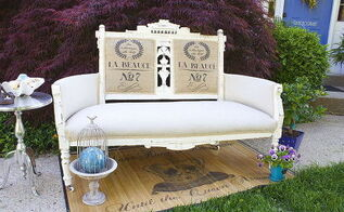 antique revival shabby chic settee, chalk paint, painted furniture, shabby chic
