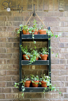 hanging garden planter, diy, gardening, how to, outdoor living, woodworking projects