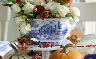 a blue willow thanksgiving table, seasonal holiday d cor, thanksgiving decorations