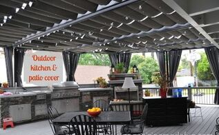our outdoor kitchen deck and patio cover, fireplaces mantels, home improvement, outdoor living, patio, Outdoor kitchen and patio cover