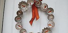 vintage jello molds, crafts, seasonal holiday decor, wreaths, Fall 2012 Vintage Tin Wreath at The Ironstone Nest