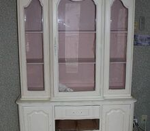 annie sloan chalk paint tutorial china cabinet, chalk paint, painted furniture, The one I am working on now