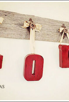 valentine decorating ideas, crafts, seasonal holiday decor, valentines day ideas, Hang your painted letters with ribbon
