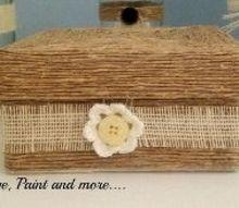 twine wrapped decorative box, crafts