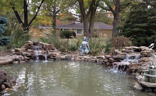 pond rehab medinah il, outdoor living, ponds water features, Pond renovation complete Big George and his friends now have plenty of room in their new pond Pond renovations New pond installations done by Gem Ponds