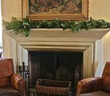 christmas in the wine country, christmas decorations, seasonal holiday decor, A simple garland for the mantel