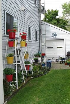 vertical gardening from junk, gardening, Vertical gardening