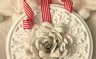 book page rose wreath, crafts, seasonal holiday decor, wreaths