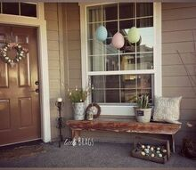 decorating the front porch for easter, easter decorations, outdoor living, porches, seasonal holiday decor