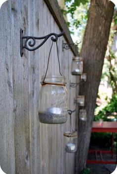 gutter gardens amp mason jar lanterns, crafts, gardening, mason jars, outdoor living, repurposing upcycling, Mason Jar Lanterns