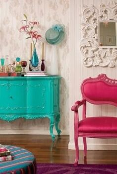 taste the rainbow 6 ways to color block your home, home decor, painted furniture, Color Blocking Mix Match Furniture