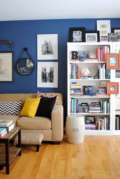 a newly designed home office family room, home decor, living room ideas