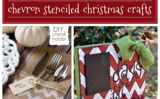 12 days of stenciling chevron stenciled christmas crafts, christmas decorations, crafts, painting, seasonal holiday decor