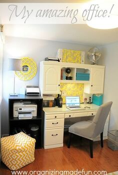 home office gets big update, craft rooms, home decor, home office, painted furniture