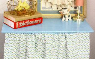 10 diy upcycling home decor projects that inspired me this week, crafts, home decor, repurposing upcycling, 4 The Corner of Happy and Harried Made this painted table with the curtain that is cute But the DIY magic in this photo is the framed book page flower art So in love with this