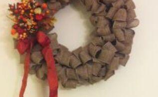 diy burlap wreath, crafts, wreaths, Burlap Wreath