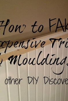 how to fake expensive mouldings and trims, wall decor, woodworking projects