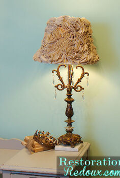 ruffled lamp shade tutorial, crafts, After
