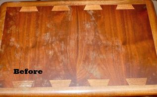 diy polish to restore wood furniture, cleaning tips, painted furniture, Just two simple ingredients can turn this