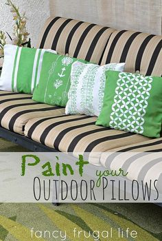 paint your outdoor pillows, crafts, outdoor living, painting