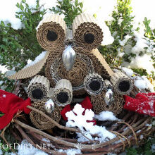 make a little owl family and dress it up, crafts, repurposing upcycling, seasonal holiday decor, wreaths, Make a little owl family and decorate them for the seasons