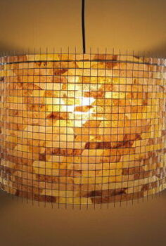 recycled coffee filter lamps eco lighting, crafts, home decor, repurposing upcycling