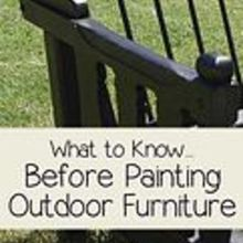 what to know before painting outdoor furniture, outdoor furniture, outdoor living, painted furniture