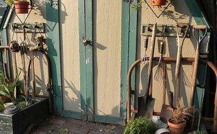 junk garden decor, gardening, home decor, use a bed frame for a trellis