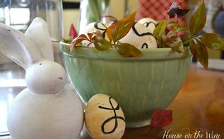 monogrammed tea stained easter eggs, crafts, easter decorations, seasonal holiday decor