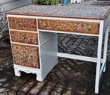 frumpy to fab desk redo, chalk paint, painted furniture