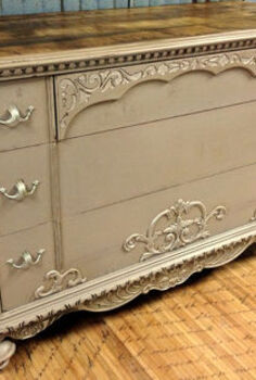 accenting with metallic stencil creme, painted furniture, After