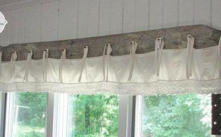 diy barn wood bedskirt valance, home decor, window treatments
