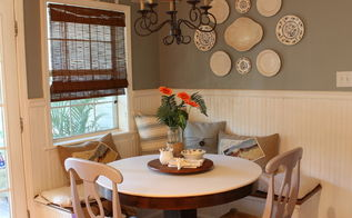 updated breakfast area, home decor, kitchen design, painting, new paint in breakfast area